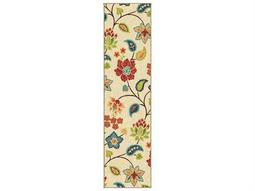 Orian Rugs Veranda Bloom Ivory Runner Rug
