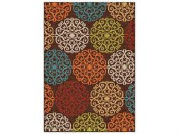 Orian Rugs Veranda  Aristocrat Brown Rectangular Area Rug