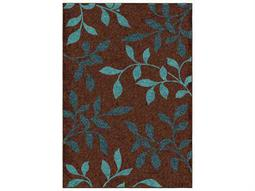 Orian Rugs Veranda Stimulus Brown Rectangular Area Rug