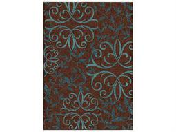 Orian Rugs Veranda Startrex Brown Rectangular Area Rug