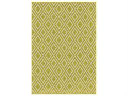 Orian Rugs Veranda Diamonds Trellis Green Rectangular Area Rug