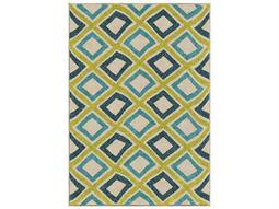 Orian Rugs Veranda Broad Street Green Rectangular Area Rug