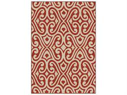 Orian Rugs Veranda Santee Red Rectangular Area Rug