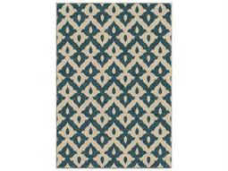 Orian Rugs Veranda Tribal Trellis Blue Rectangular Area Rug