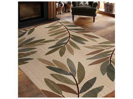 Orian Rugs Elegant Revival Rectangular Botanica Beige Area Rug