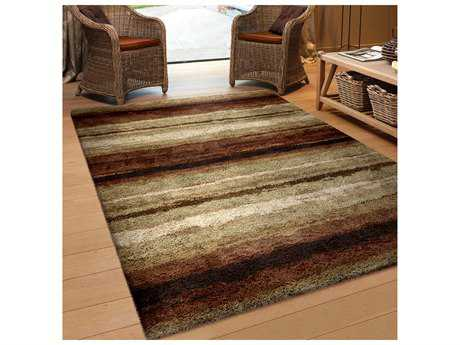 Orian Rugs Impressions Shag Rectangular Sundown Red Area Rug