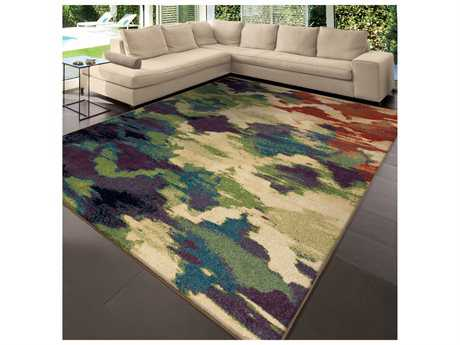 Orian Rugs Mardi Gras Watercolor Trelli Rectangular Area Rug