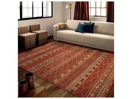 Orian Rugs Mardi Gras Zemmour Red Rectangular Area Rug