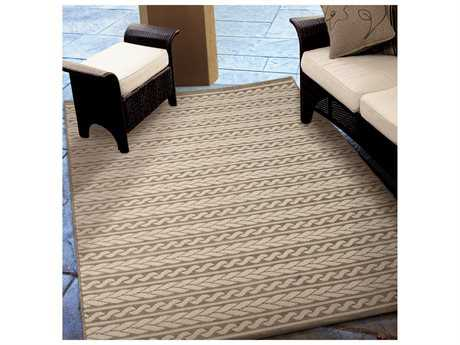 Orian Rugs Jersey Home Cableknots Tan Rectangular Area Rug