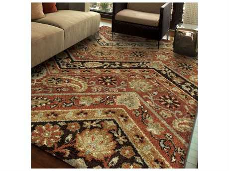Orian Rugs American Heritage Point Brown Rectangular Area Rug