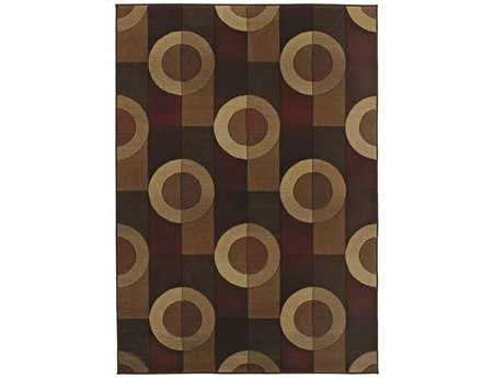 Oriental Weavers Genesis Rectangular Brown Area Rug