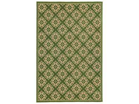 Oriental Weavers Tommy Bahama Seaside Rectangular Green & Beige Area Rug