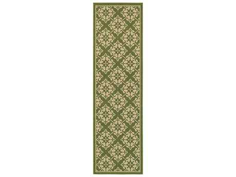 Oriental Weavers Tommy Bahama Seaside 2'3'' x 7'6'' Rectangular Green & Beige Runner Rug