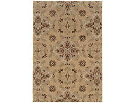 Oriental Weavers Ariana Rectangular Yellow Area Rug