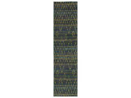 Oriental Weavers Nomad 2'7'' x 10' Rectangular Green & Blue Runner Rug