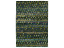 Oriental Weavers Nomad Rectangular Green & Blue Area Rug