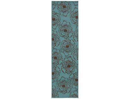 Oriental Weavers Caspian 2'3'' x 7'6'' Rectangular Blue Runner Rug