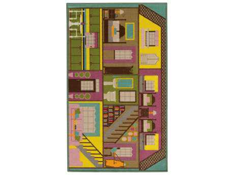 Oriental Weavers Serendipity Rectangular Green & Purple Area Rug