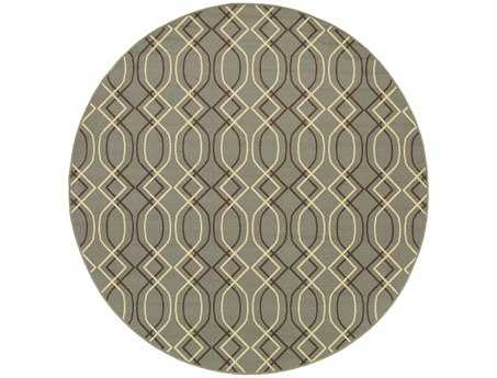 Oriental Weavers Bali Round Gray Area Rug