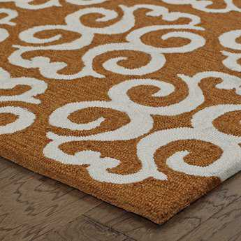Oriental Weavers Tommy Bahama Atrium Rectangular Orange & Ivory Area Rug