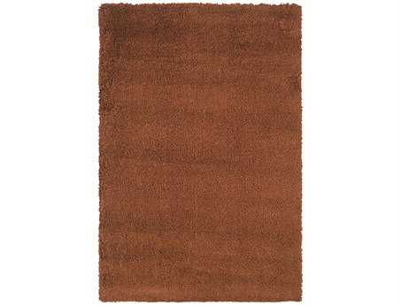 Oriental Weavers Loft Collection Rectangular Rust Area Rug