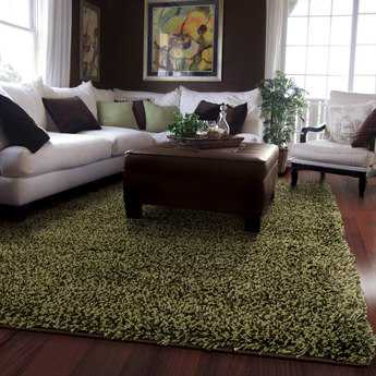 Oriental Weavers Loft Collection Rectangular Green Area Rug