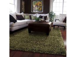 Loft Collection Rectangular Green Area Rug