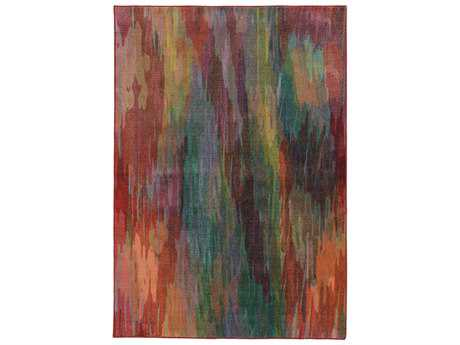 Oriental Weavers Pantone Universe Prismatic Rectangular Red & Orange Area Rug