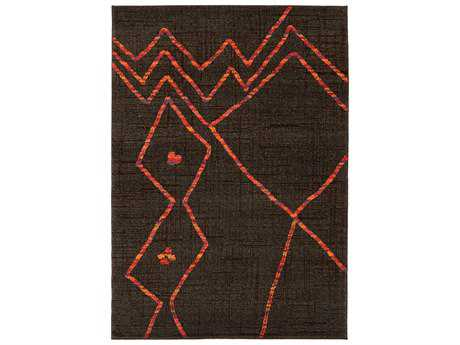 Oriental Weavers Nomad Rectangular Brown & Orange Area Rug