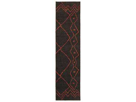 Oriental Weavers Nomad 2'7'' x 10' Rectangular Brown & Orange Runner Rug