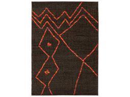 Oriental Weavers Nomad Rectangular Brown & Orange Area Rug