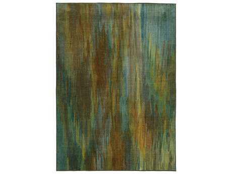Oriental Weavers Pantone Universe Prismatic Rectangular Green & Blue Area Rug