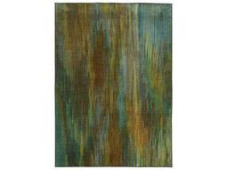 Oriental Weavers Pantone Universe Prismatic Rectangular Green & Blue Area Rug