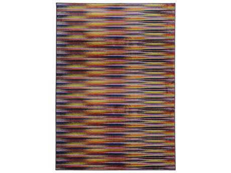 Oriental Weavers Pantone Universe Prismatic Rectangular Lavender & Red Area Rug