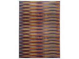 Oriental Weavers Pantone Universe Prismatic Rectangular Lavender & Red Area Rug