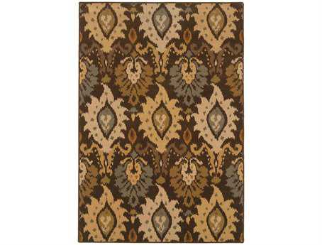Oriental Weavers Ensley Rectangular Brown Area Rug