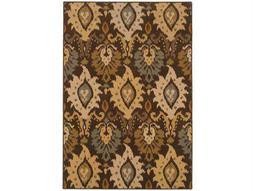 Oriental Weavers Ensley Rectangular Brown Area Rug