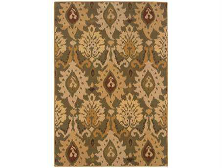Oriental Weavers Ensley Rectangular Green Area Rug