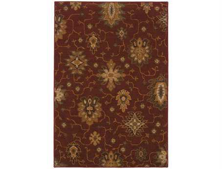 Oriental Weavers Ensley Rectangular Red Area Rug
