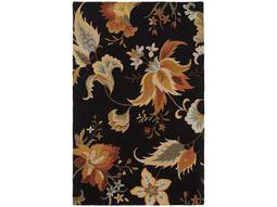 Oriental Weavers Eden Rectangular Black Area Rug