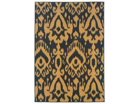 Oriental Weavers Ensley Rectangular Blue Area Rug