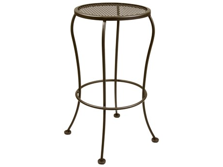 OW Lee Bistro Wrought Iron Backless Counter Stool