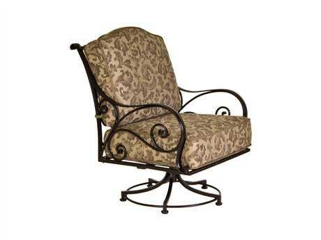 OW Lee Ashbury Cast Aluminum Swivel Rocker Lounge Chair