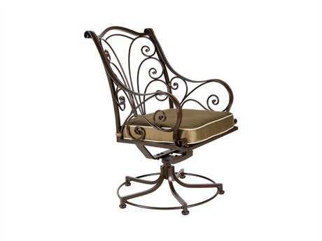 OW Lee Ashbury Cast Aluminum Swivel Rocker Dining Chair