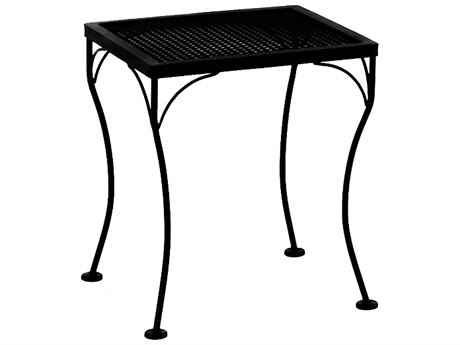 OW Lee Micro Mesh Wrought Iron 18 x 16 Rectangular End Table