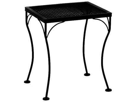 OW Lee Mesh Wrought Iron 18 x 16 Rectangular End Table
