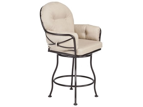 OW Lee Cambria Wrought Iron Swivel Counter Stool