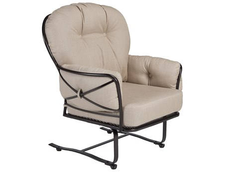 OW Lee Cambria Wrought Iron Spring Base Lounge Chair