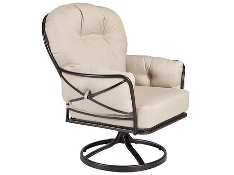 OW Lee Cambria Wrought Iron Swivel Rocker Lounge Chair