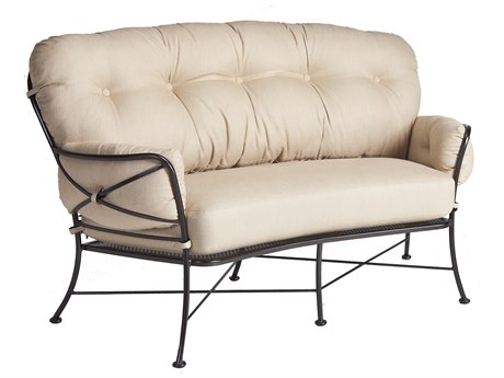 OW Lee Cambria Wrought Iron Crescent Loveseat